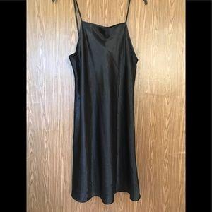 Sleek Black Spaghetti Strap Nightgown Size M.